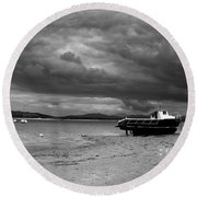 Storm Clouds Coming Round Beach Towel