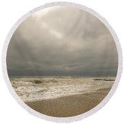Storm Clouds Round Beach Towel