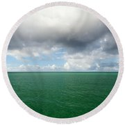 Storm Clouds Gathering Round Beach Towel