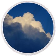 Storm Clouds In The Evening Round Beach Towel
