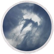 Storm Clouds Round Beach Towel