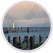 Storm Coming Round Beach Towel