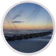 Storm Drain - North Wildwood Round Beach Towel