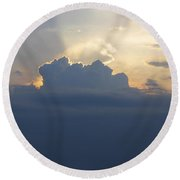 Storm Front Approaching Round Beach Towel