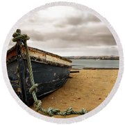 Storm Is Comming Round Beach Towel