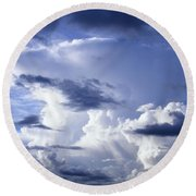Storm Of Namibia Round Beach Towel