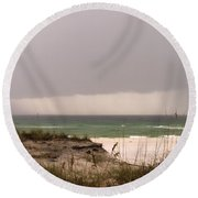 Storm Offshore At Destin Florida Round Beach Towel