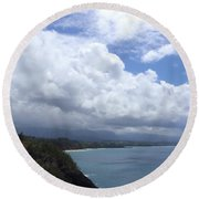 Storm Over Bali Hai Round Beach Towel