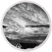 Storm Over Sedona Round Beach Towel by Dave Bowman