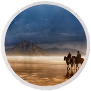 Storm Riders Round Beach Towel