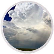 Storm System Round Beach Towel
