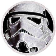 Storm Trooper Helmet Round Beach Towel