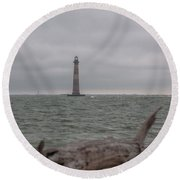 Stormy Round Beach Towel