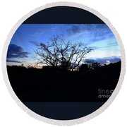 Stormy Night Round Beach Towel