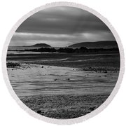Stormy Skies At Seaton Sands Round Beach Towel
