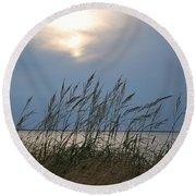 Stormy Sunset Prince Edward Island II Round Beach Towel by Micheline Heroux