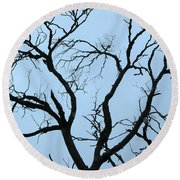 Stormy Trees Round Beach Towel