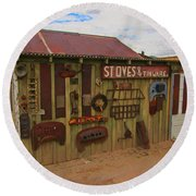 Stoves And Tinware Round Beach Towel