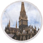 St.patrick's Cathedral Round Beach Towel
