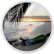 Lost In Paradise Round Beach Towel