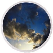 Stratosphere To Surface Round Beach Towel