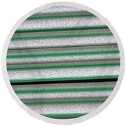 Straw Green Round Beach Towel