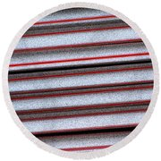 Straw Red Round Beach Towel