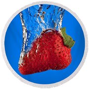 Strawberry Slam Dunk Round Beach Towel by Susan Candelario
