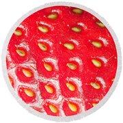 Strawberry Texture Round Beach Towel