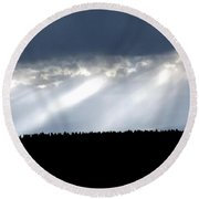 Streaks Of Sunlight  Round Beach Towel
