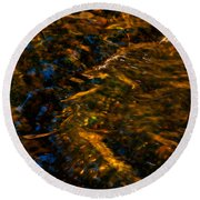 Stream Of Reflection Round Beach Towel