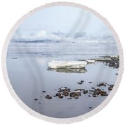 Stream Of Stillness Round Beach Towel