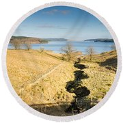 Stream To Kielder Water Round Beach Towel