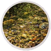 Stream Water Round Beach Towel