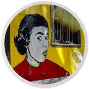 Street Art Valparaiso Chile 7 Round Beach Towel