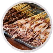 Street Food, China Round Beach Towel