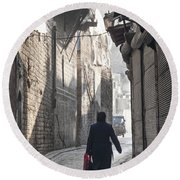 Street In Aleppo Syria Round Beach Towel
