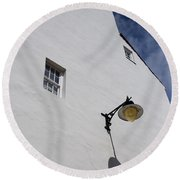 Street Lamp Round Beach Towel