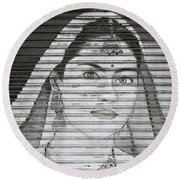 The Ethereal Woman Round Beach Towel