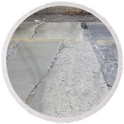 Street Under The Bridge Round Beach Towel