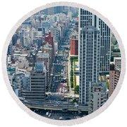 Street View Tokyo Round Beach Towel