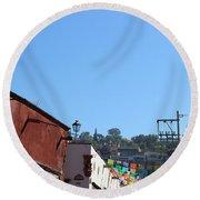 Streets Of San Miguel De Allende 2 Round Beach Towel