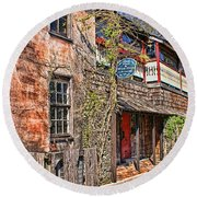 Streets Of St Augustine Florida Round Beach Towel