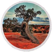 Strength Round Beach Towel