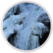 Strength Of Water And Ice Round Beach Towel