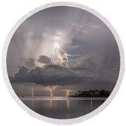 Striking Ozona Round Beach Towel