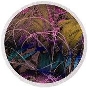 String And Fabric Round Beach Towel