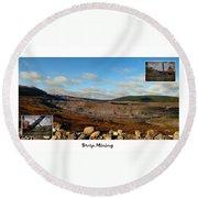 Strip Mining - Environment - Panorama - Labrador Round Beach Towel