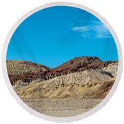 Striped Mountain Round Beach Towel