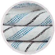 Stripey Material Round Beach Towel